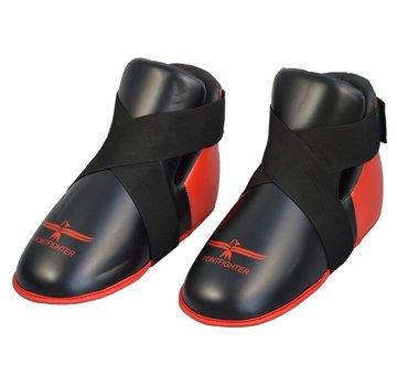 voet beschermers rood-zwart