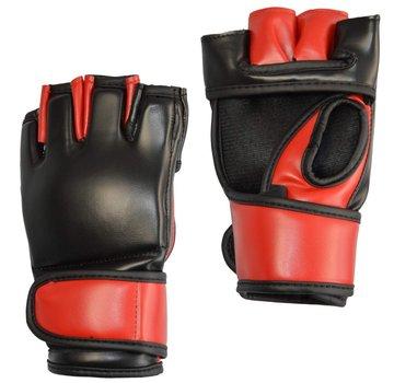 MMA glove PU, zwart-rood
