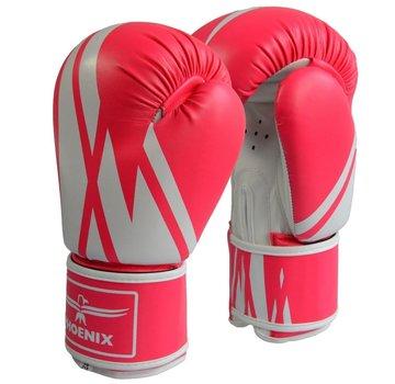 bokshandschoenen,PU, roze-wit