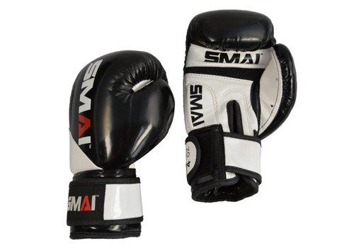 SMAI kinder PU bokshandschoenen, zwart-wit