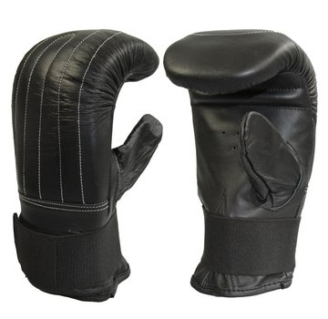 Phoenix bokszak handschoenen koeleder, volledig elastische, zwart