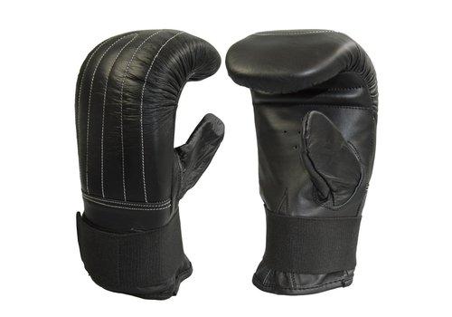 bokszak handschoenen koeleder, volledig elastische, zwart