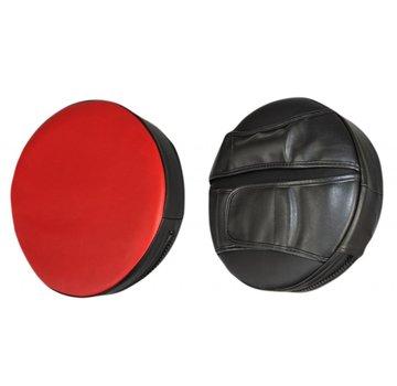 ronde trapkussen, zwart-rood