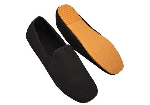 Kung fu schoenen, zwart rubber zool