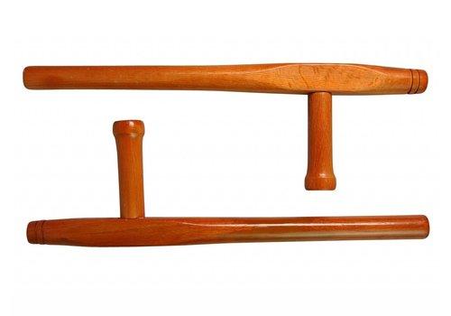 Tonfas ronde stijl, hout, 51 cm, per paar