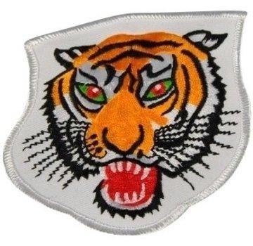 geborduurde badge tijger ca. 10 cm