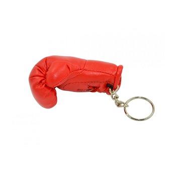 Mini bokshandschoenen sleutelhanger, ca. 8 cm, rood