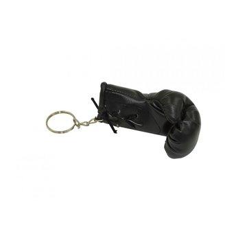 Mini bokshandschoenen sleutelhanger, ca. 8 cm, zwart
