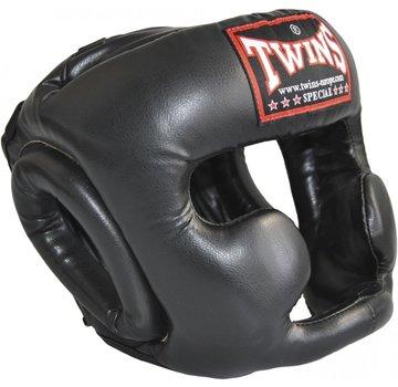 hoofdbeschermer skintex leder, zwart