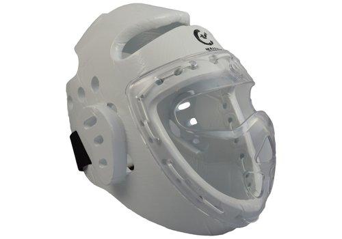 Wacoku foam hoofdbeschermer wit, gelaatsbeschermer