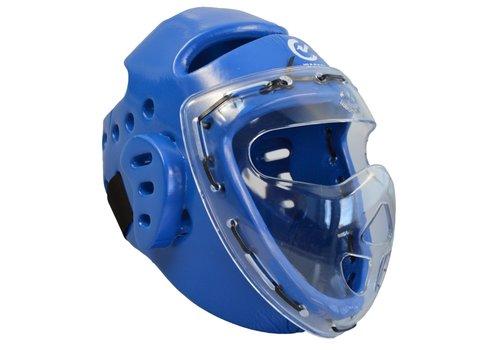 Wacoku foam hoofdbeschermer blauw, gelaatsbeschermer