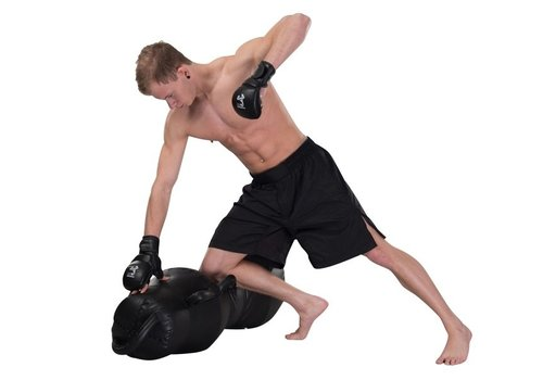 MMA Shorts zwart split side