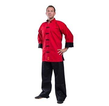 Kung Fu jas SHAOLIN II, rood