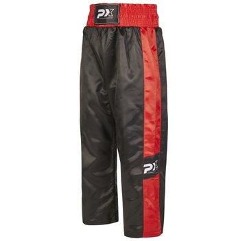 PX kickboksbroek TOPFIGHT, zwart-rood
