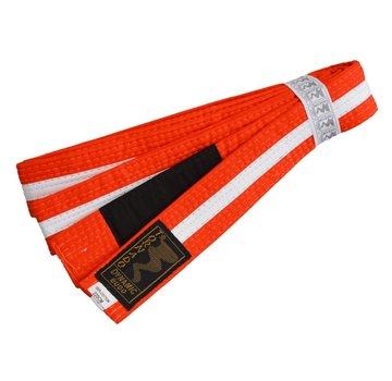 kinder braziliaans jiu jitsu band oranje-wit