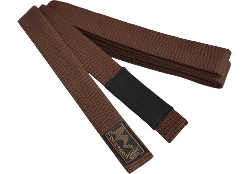 braziliaans jiu jitsu band, bruine met zwarte streep