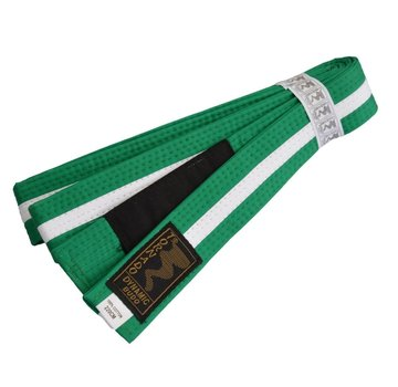 kinder braziliaans jiu jitsu band groene-wit