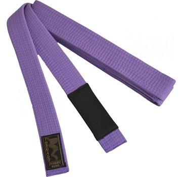 braziliaans jiu jitsu band, paars met zwarte streep
