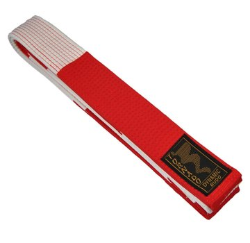 Grand Master band wit-rood, 5cm