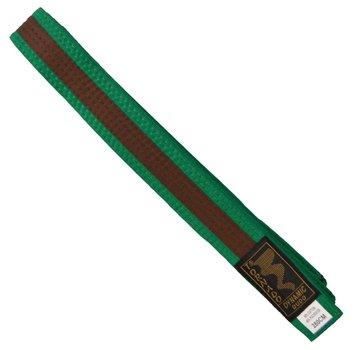 dubbel gekleurde vechtsportband, groene-bruine steep