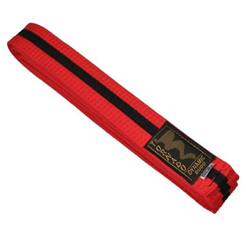 dubbel gekleurde vechtsportband, rood-zwart streep