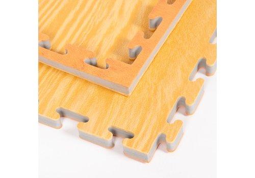 omkeerbare puzzelmat, houtlook - Gratis verzonden