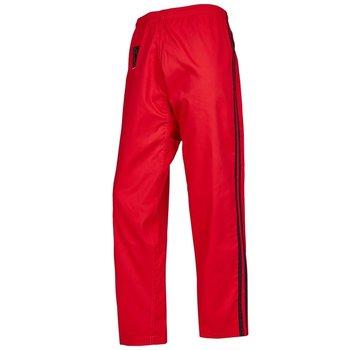 Training broek P/C, rood en 2 zwarte strepen