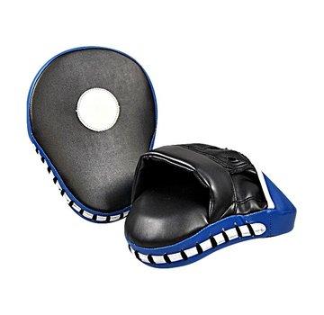 Boxing Pads pair, blauw en zwart, gebogen