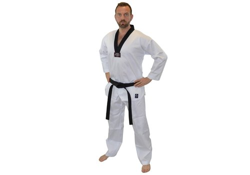 CHALLENGE MASTER Taekwondo pak zwarte V hals