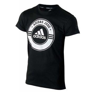 Adidas T-Shirt Combat Sport Judo zwart-wit