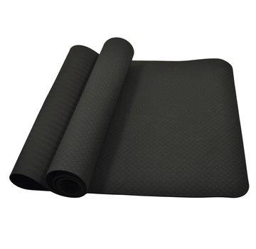 Yoga mat zwart 183 x 61 x 0,4cm