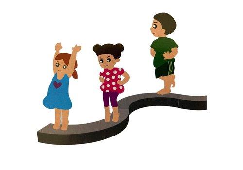 Balance trainer ring, met 3 delen