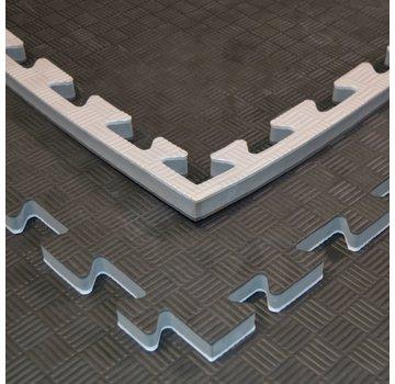 puzzelmat zwart grijs 100x100x2cm - Gratis verzonden