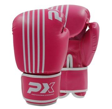 PX bokshandschoenen SPARRING,PU, roze-wit