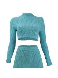 Dames Sport-Top turquoise
