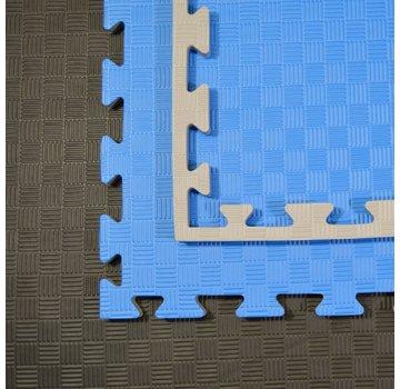 Judomat puzzelmat blauw grijs 100x100x2cm - Gratis verzonden