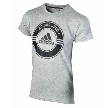Adidas T-Shirt Combat Sport Judo grijs-zwart