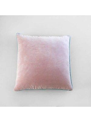 Rozablue Kussen 60x60 Funky stripes roza & blue and pink velvet