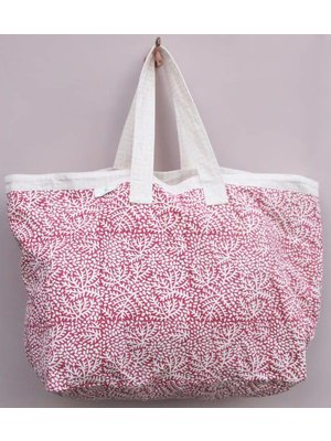 Rozablue Tas Floral raspberry pink  / daisy