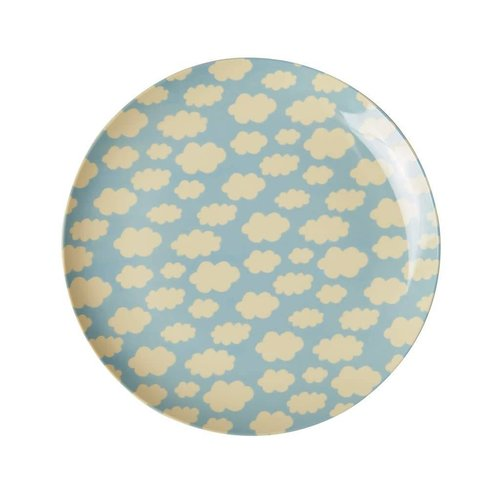 Rice Kids Lunch Plate Cloud blauw