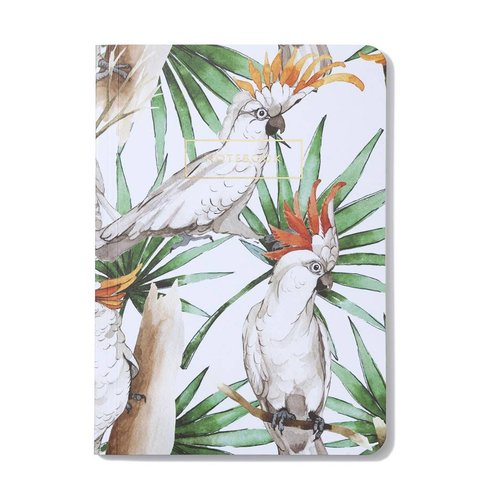Notebook White Parrot