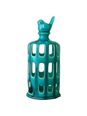 Rice Lantaarn Keramiek L Turquoise