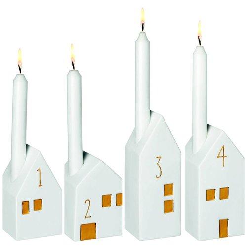 Räder Advent Light Houses set/4