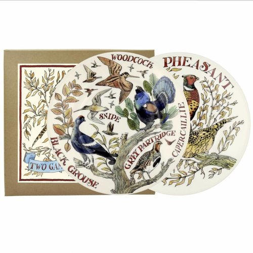 Emma Bridgewater 8.5 Plate set/2 Game Birds
