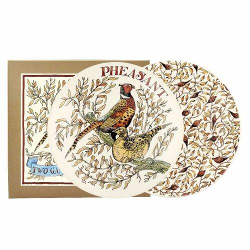 Emma Bridgewater 8.5 Plate set/2 Roosting Pheasants