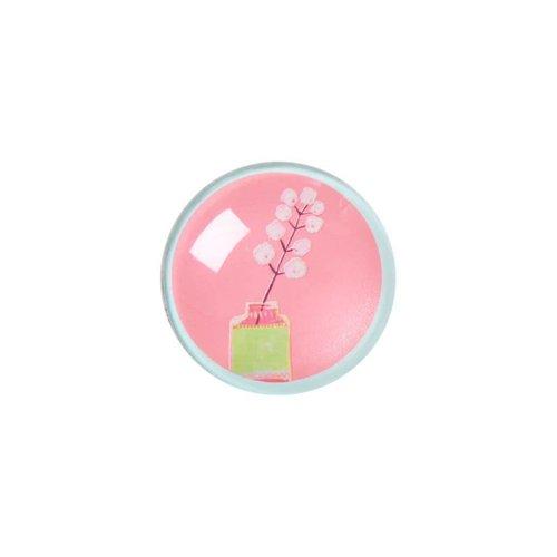 Rice Magneet glazen kraal L Flowers