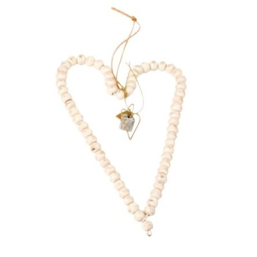 Walther & Co Bead heart 20cm white