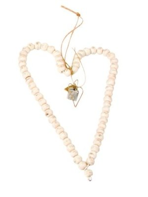 Walther & Co Bead heart 40cm white