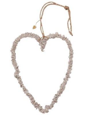 Walther & Co Heart organza 30cm grey