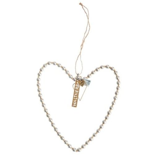 Walther & Co Heart w. silver/brass pearls 20cm